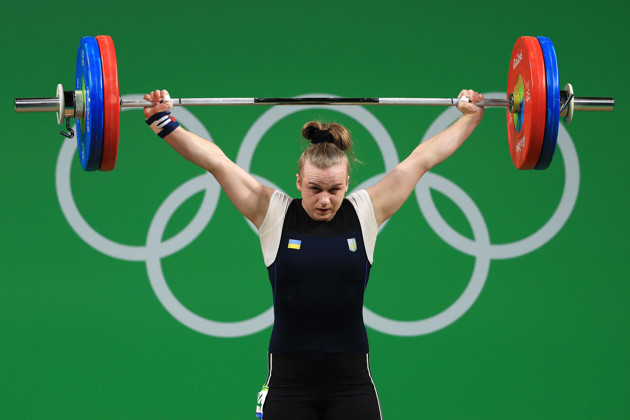 Iryna Dekha won a European title in contentious circumstances in Moscow, and that leaves her on course to be Europe's best qualifier for the Olympics in the women's 76kg ©Getty Images