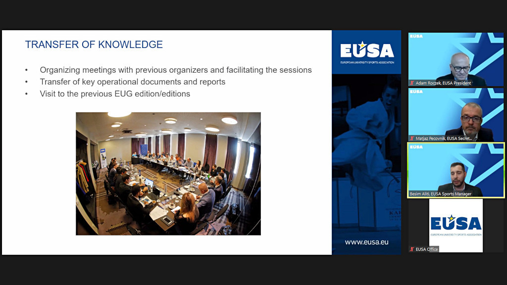 EUSA discussed areas such as transfer of knowledge with potential bidders ©EUSA