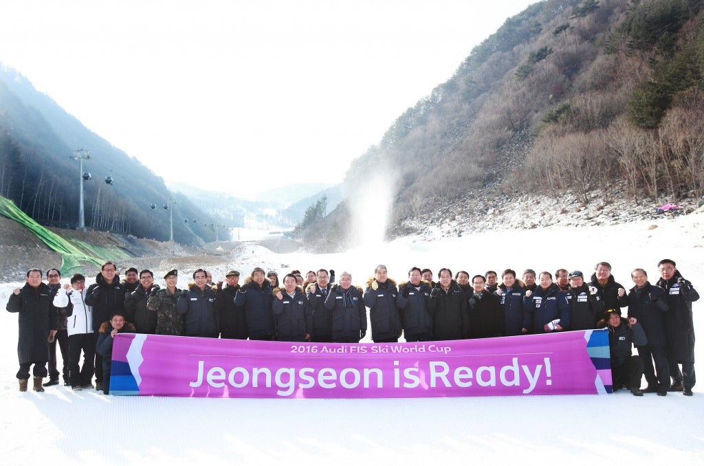 The Jeongsenon Alpine Centre has been declared ready to host an FIS Alpine Skiing World Cup event on February 6 and 7, an important test event for Pyeongchang 2018 ©Pyeongchang 2018