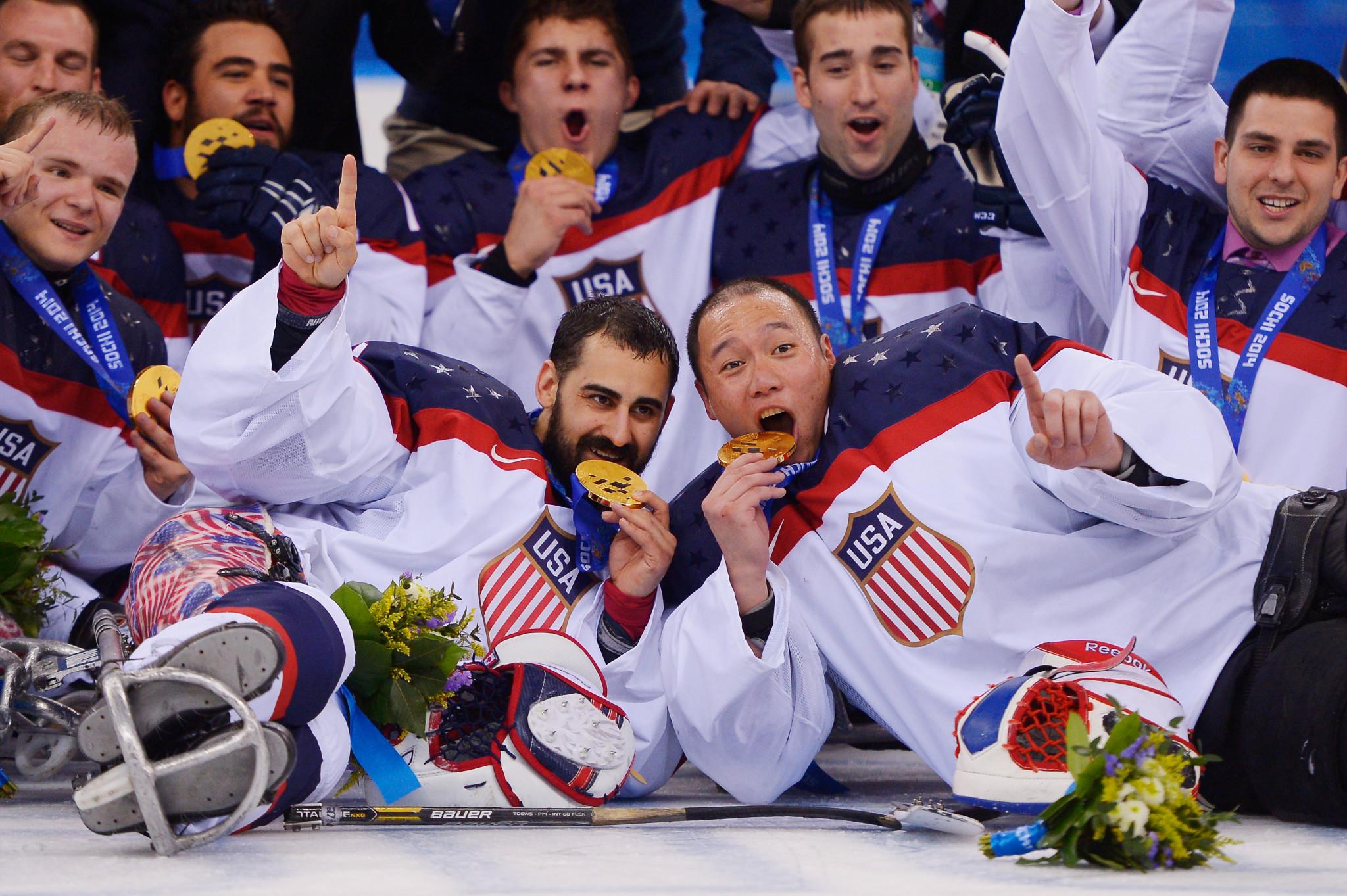 USA získaly tři po sobě jdoucí paralympijské zlato v soutěži Ice Hockey Para © Getty Images