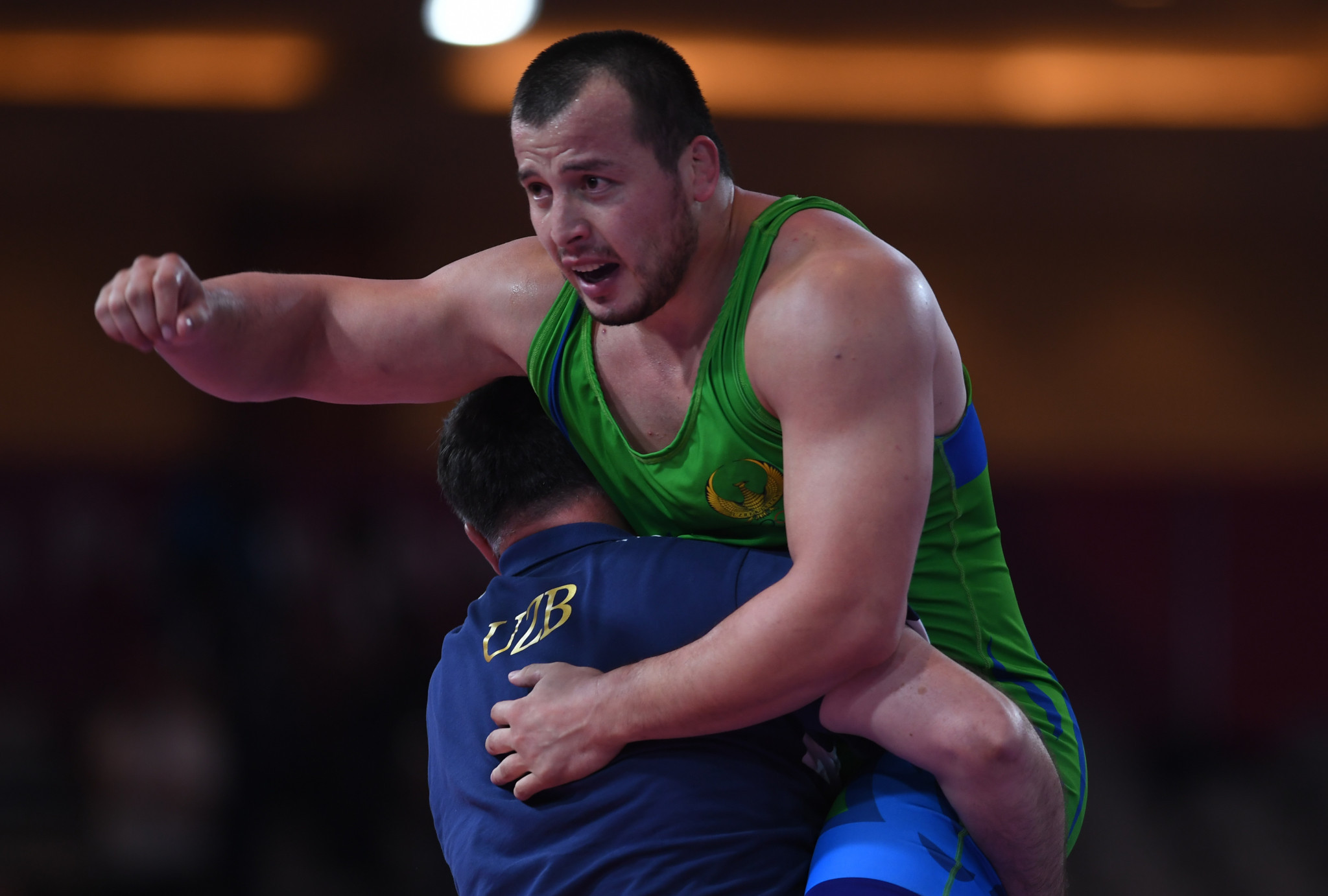 Muminjon Abdullaev secured Olympic qualification in the under-130kg division ©Getty Images