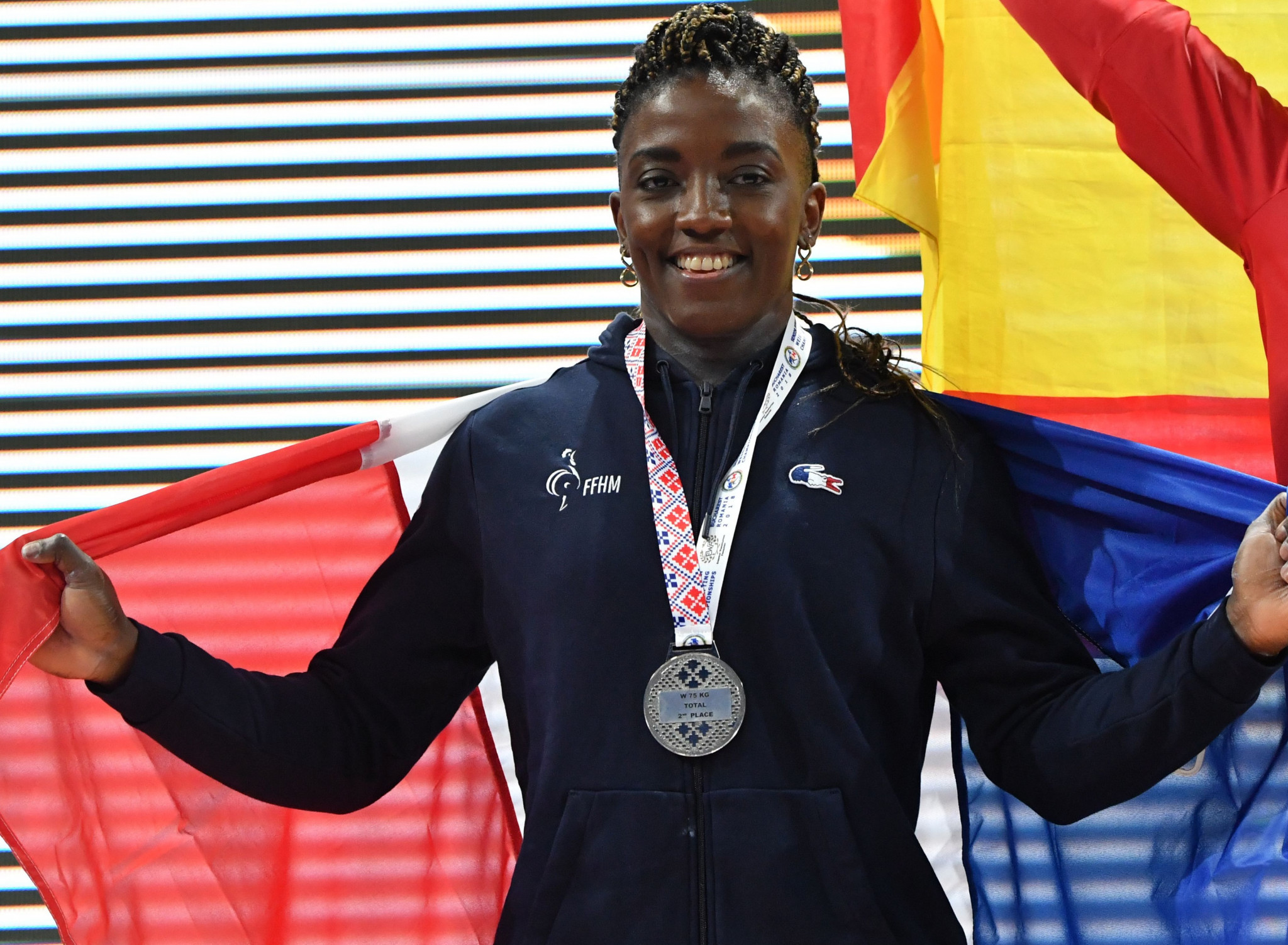 Gaelle Nayo-Ketchanke has now won four European silver medals ©Getty Images