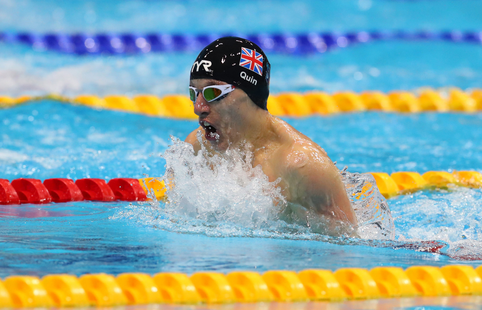 Scott Quin was among a hos of British swimmers to dip below their Paralympic consideration time today ©Getty Images