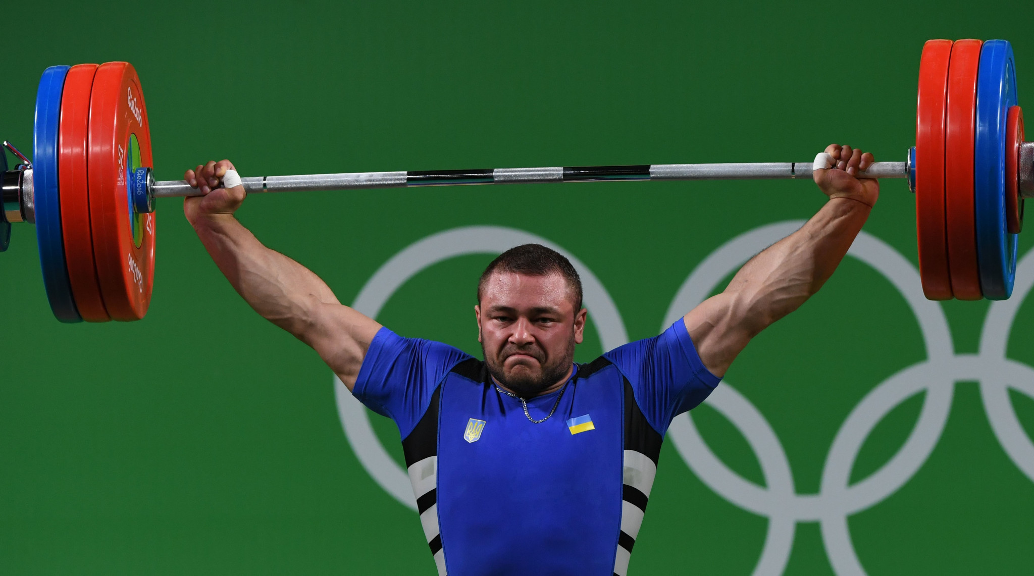 Ukraine's Dmytro Chumak won a European title at a third different weight class in Moscow ©Getty Images