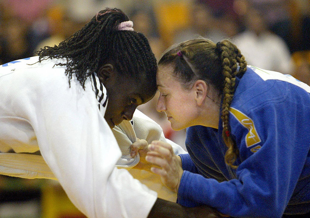 Christina Yannetsos, right, won Pan American judo silver in 2003 and is now an assistant professor of emergency medicine for the University of Colorado's School of Medicine ©Getty Images