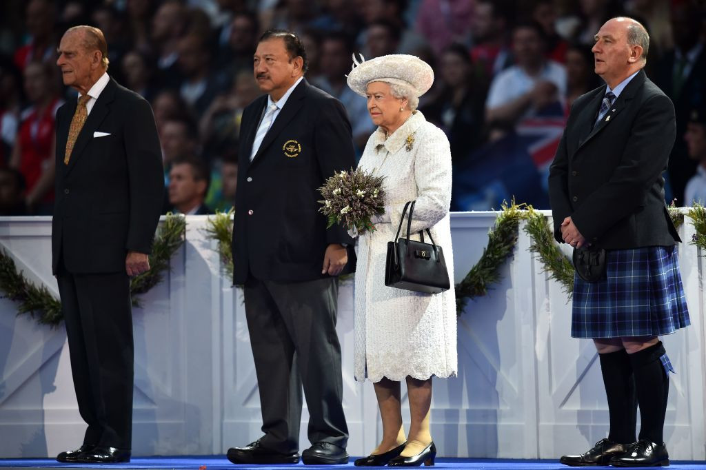 Prince Philip, left, had a long association with the Commonwealth Games ©Getty Images