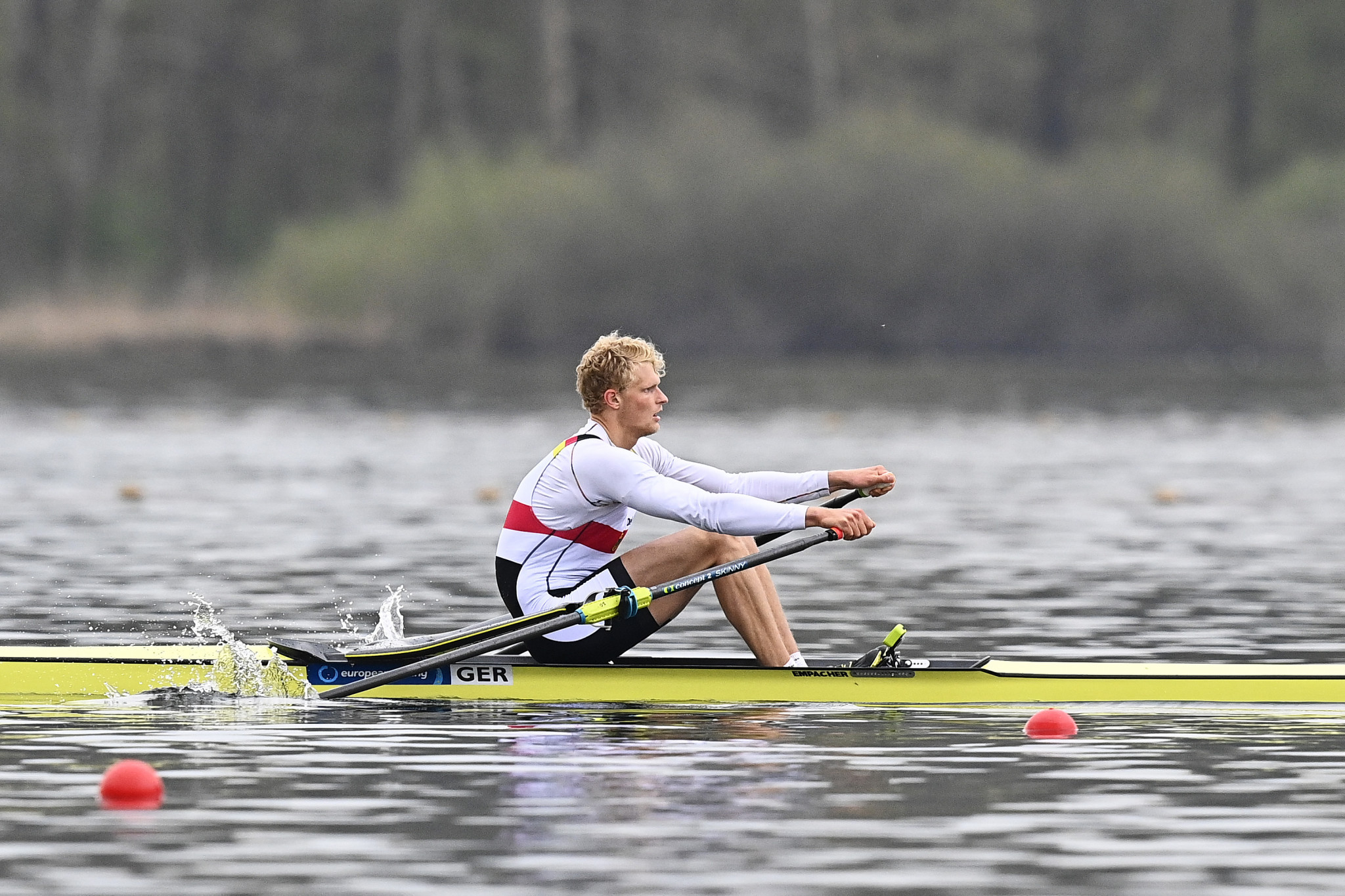 German world champion Oliver Zeidler won the men's single sculls by more than a second ©Getty Images