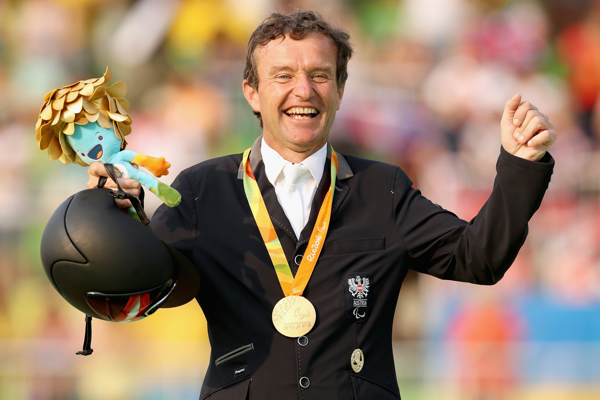 Pepo Puch was Austria's lone gold medal at the Rio 2016 Paralympics ©Getty Images