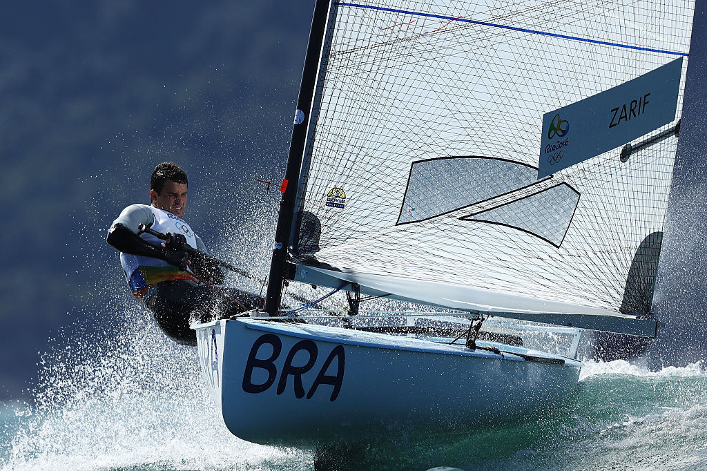 Brazil's 2013 Finn class world champion Jorge Zarif is looking forward to meeting fellow competitors he has not seen for almost two years because of the pandemic when the European Championships start in Vilamoura, Portugal tomorrow ©Getty Images