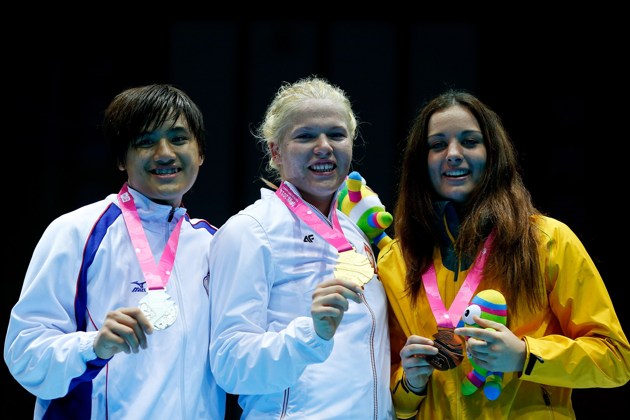 Elzbieta Wojcik won a gold medal at the Nanjing 2014 Youth Olympics during her junior career ©Getty Images