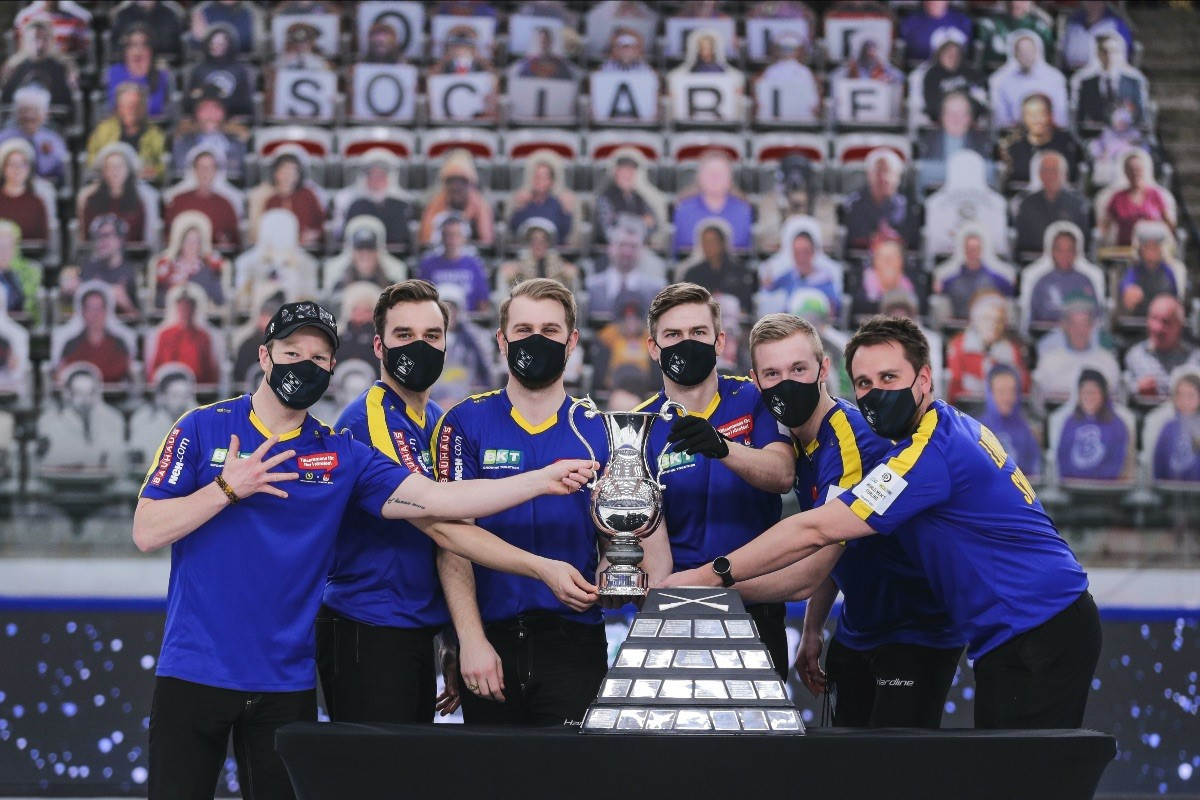 Sweden win historic third successive World Men's Curling Championship title after defeating Scotland