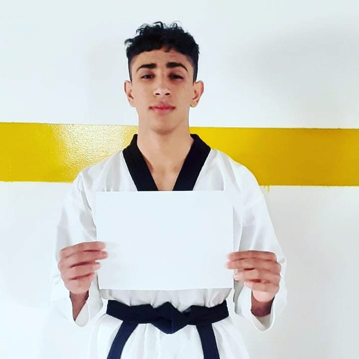 More than 150 boys and girls in two refugee camps in Jordan took part in a virtual sports training event put on by Peace and Sport and the Taekwondo Humanitarian Foundation, as well as supporting the #WhiteCard campaign to celebrate the International Day of Sport for Development and Peace ©WT