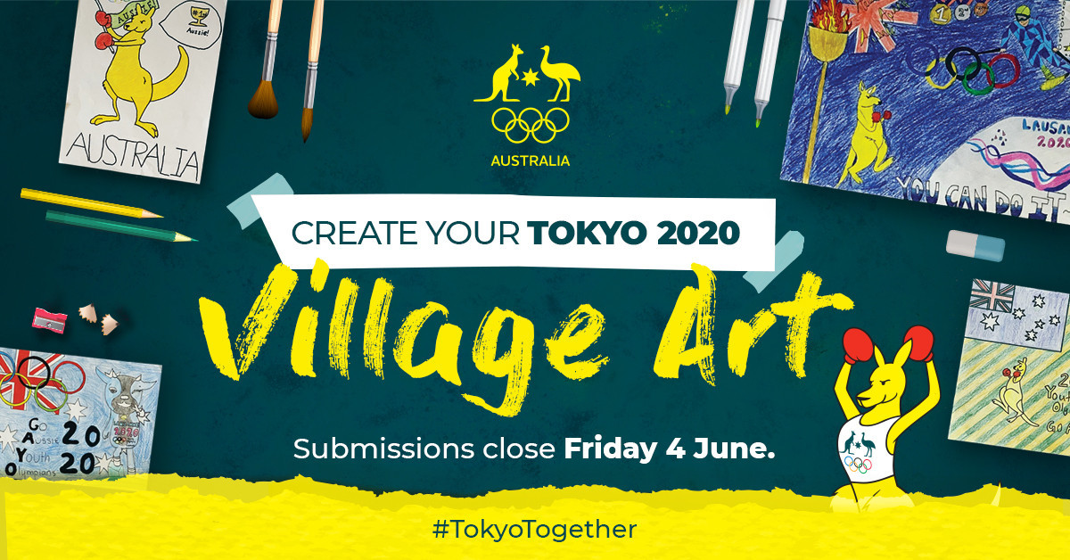 Australian schoolchildren have been invited to create artwork that can be displayed on the walls of the nation's athletes in the Tokyo 2020 Olympic village ©AOC