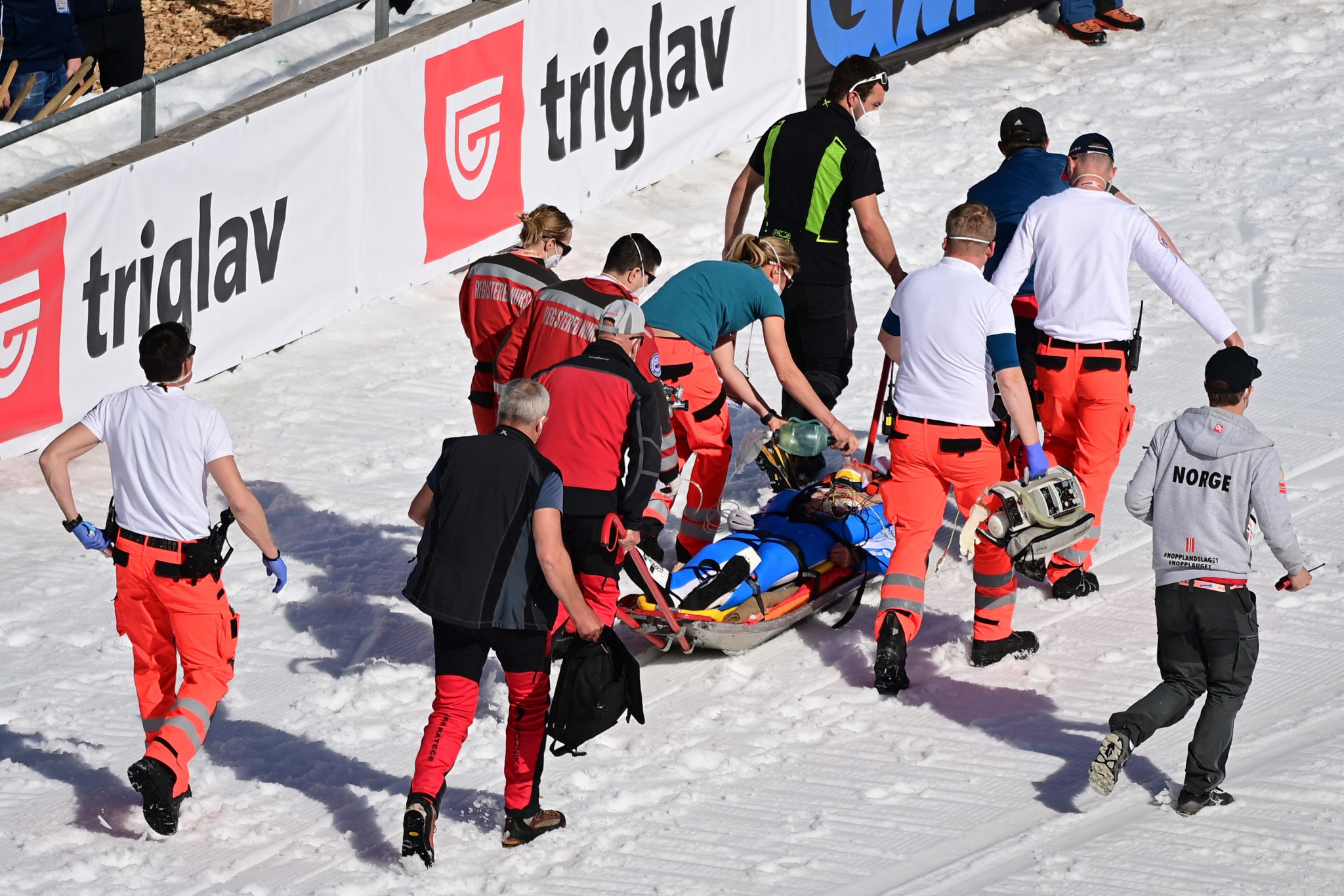 Daniel Andre Tande crashed heavily at the FIS World Cup Final in Planica last month ©Getty Images