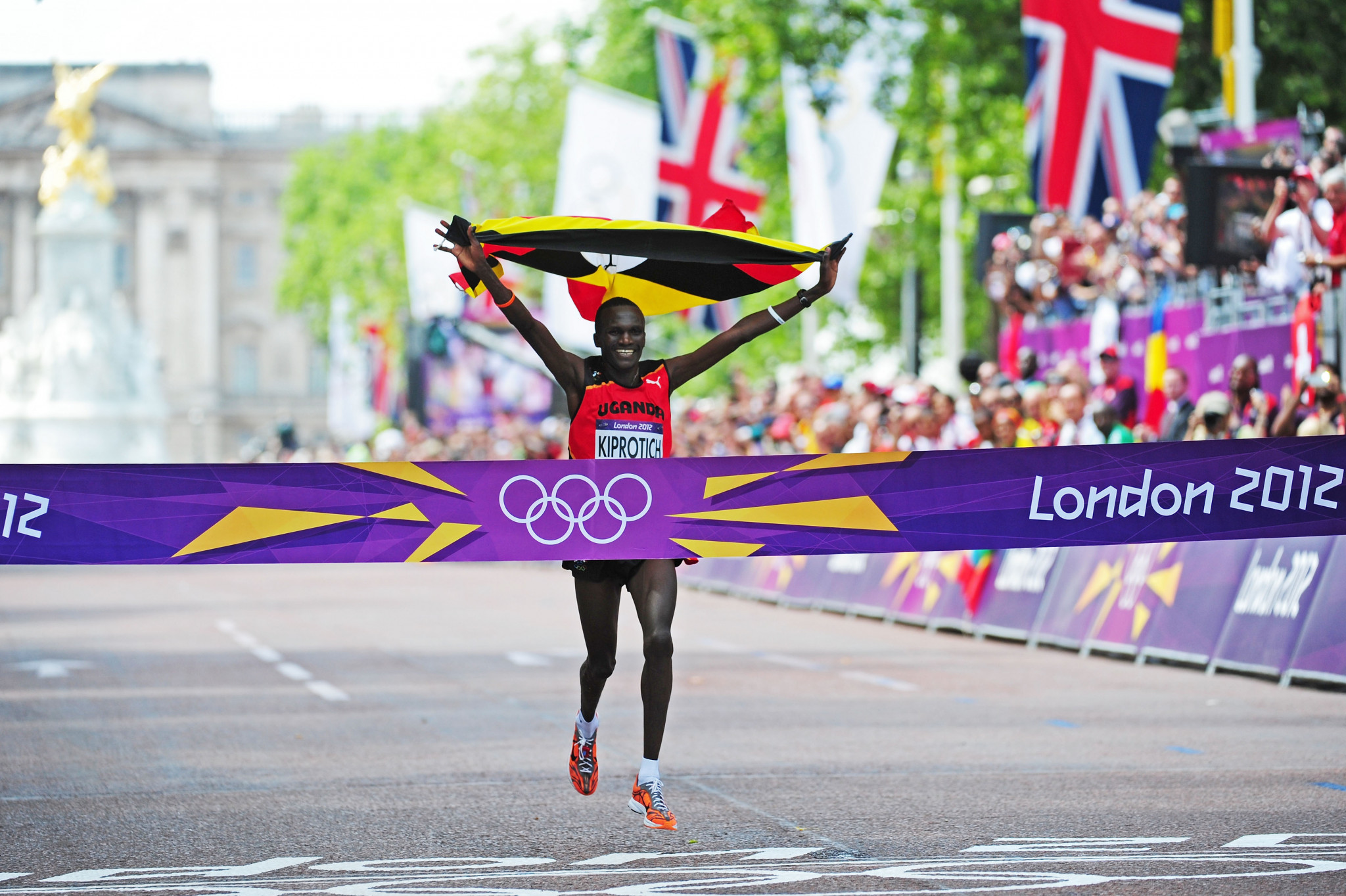 Uganda London 2012 marathon champion Stephen Kiprotich is another leader name in the NN Mission Marathon field ©Getty Images