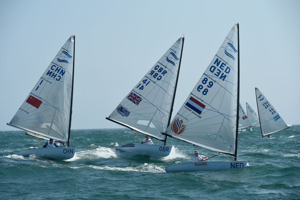Hungary's Zsombor Berecz leads after the opening two races at the Finn European Championships in Vilamoura ©Getty Images