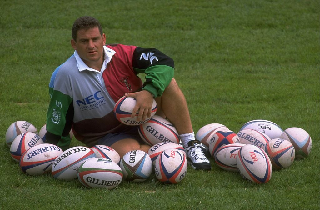 Former Italy captain Massimo Cuttitta, who has died aged 54, pictured shortly after joining English team Harlequins in 1997 ©Getty Images