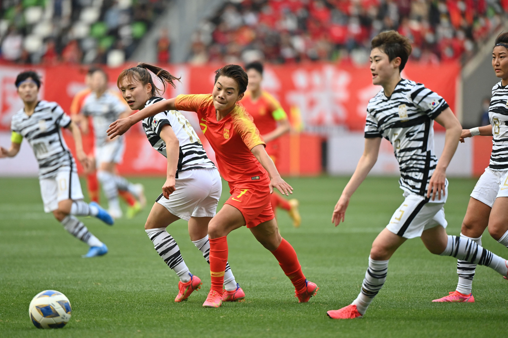 A 2-2 draw in Suzhou was enough to see China reach the Tokyo 2020 Olympics women's football tournament ©Getty Images