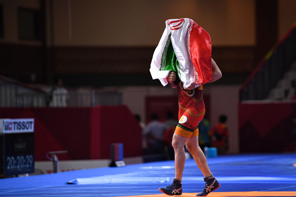 Iran earn three Greco-Roman golds on day one of UWW Asian Championships