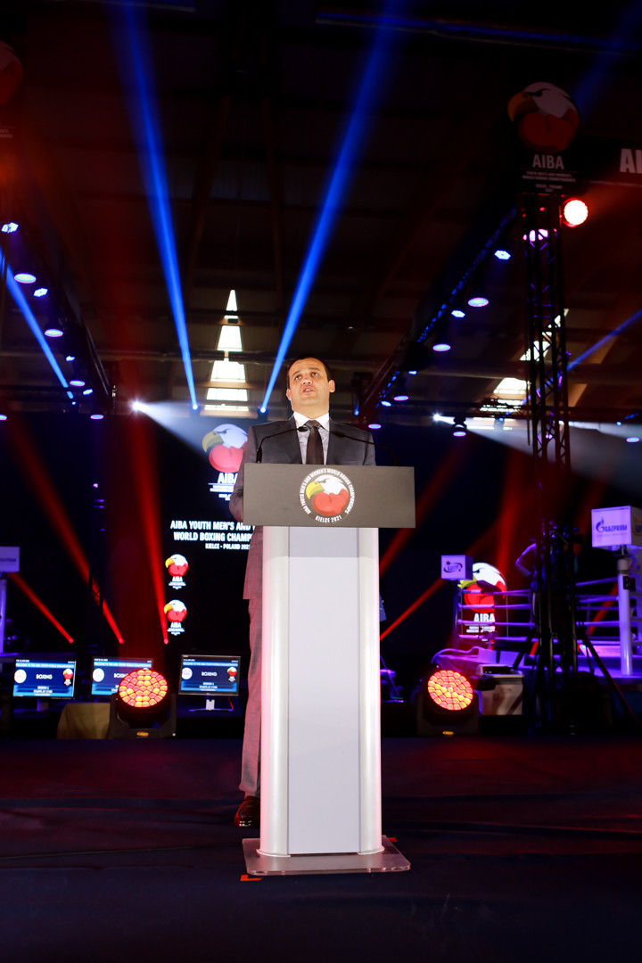 AIBA President Umar Kremlev opened the Championship which is taking place under secure COVID-19 conditions ©AIBA