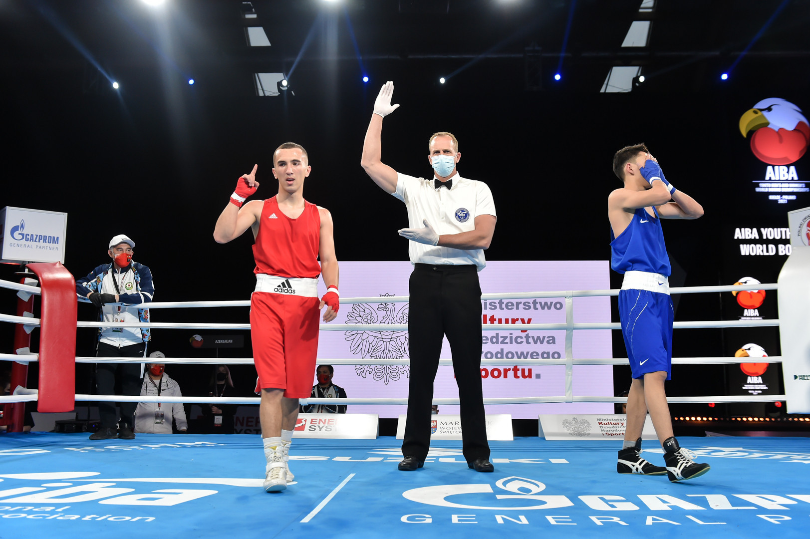 There was early disappointment for some in the early bouts ©AIBA