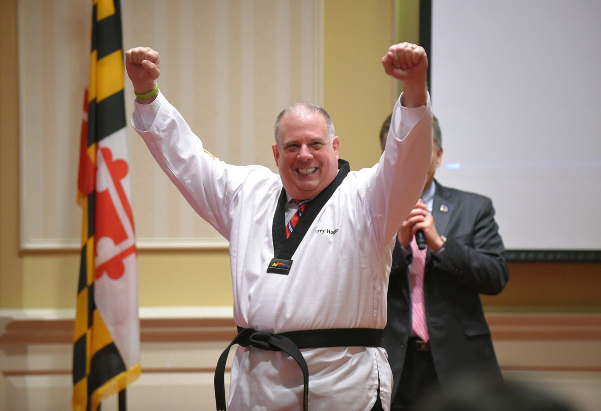 "Maryland Governor Larry Hogan has declared April 5 in the state ""Taekwondo Day"""
