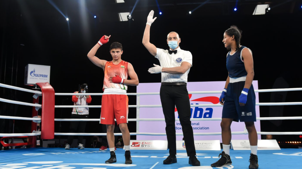 The women's competition on the opening day of the AIBA Youth World Boxing Championships in the Polish city of Kielce produced good results for the home nation and for India ©AIBA