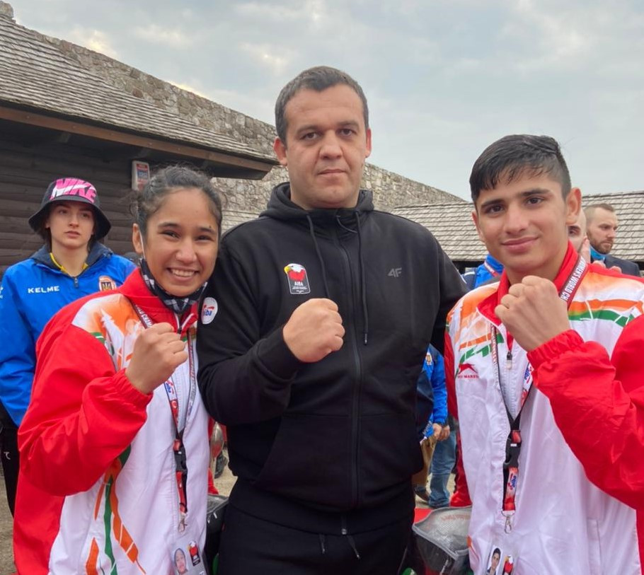 AIBA President Umar Kremlev has been meeting with some of the young boxers taking part in the tournament ©Twitter