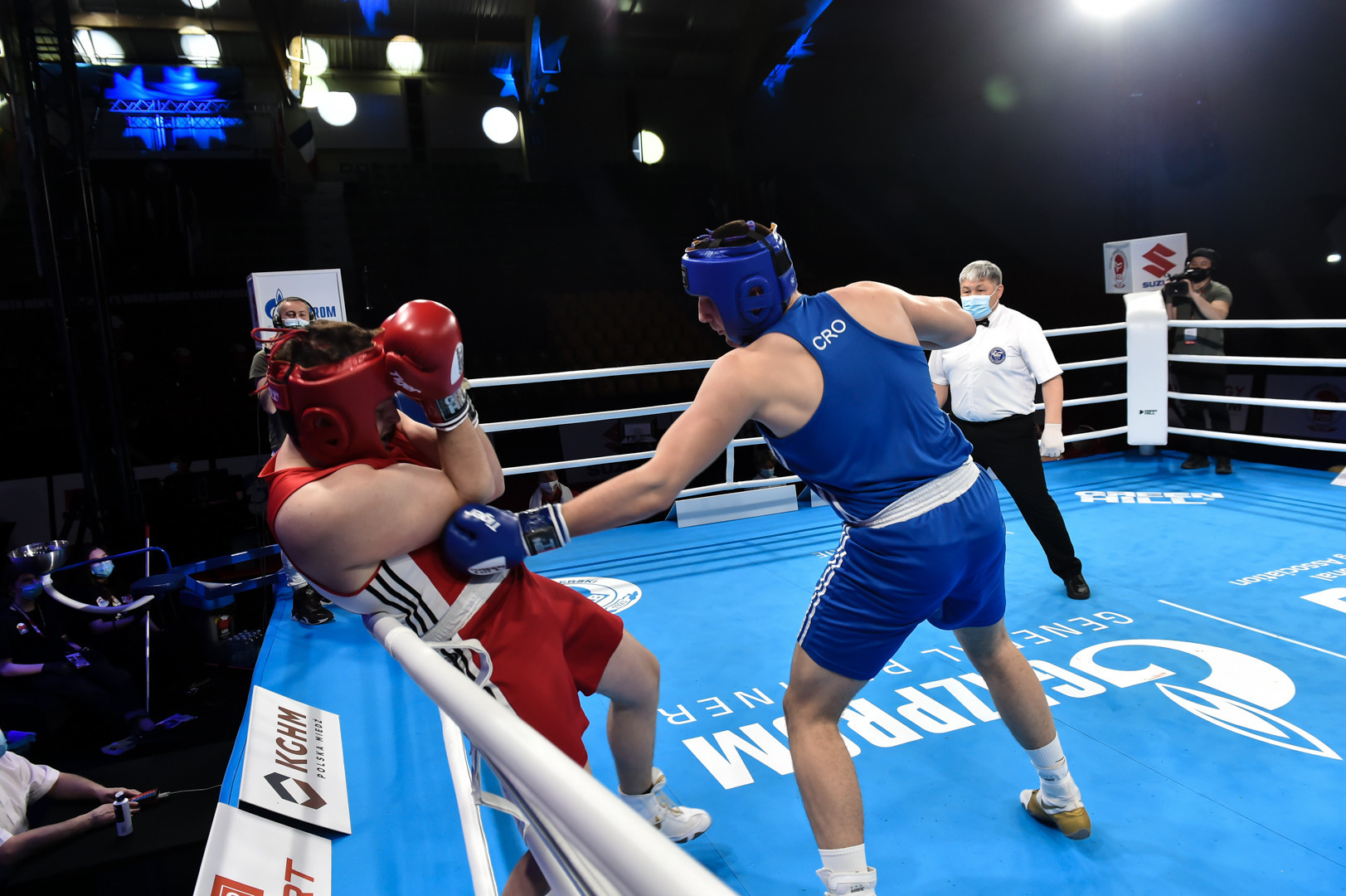There has been some fierce action in the opeing round of the Championships ©AIBA