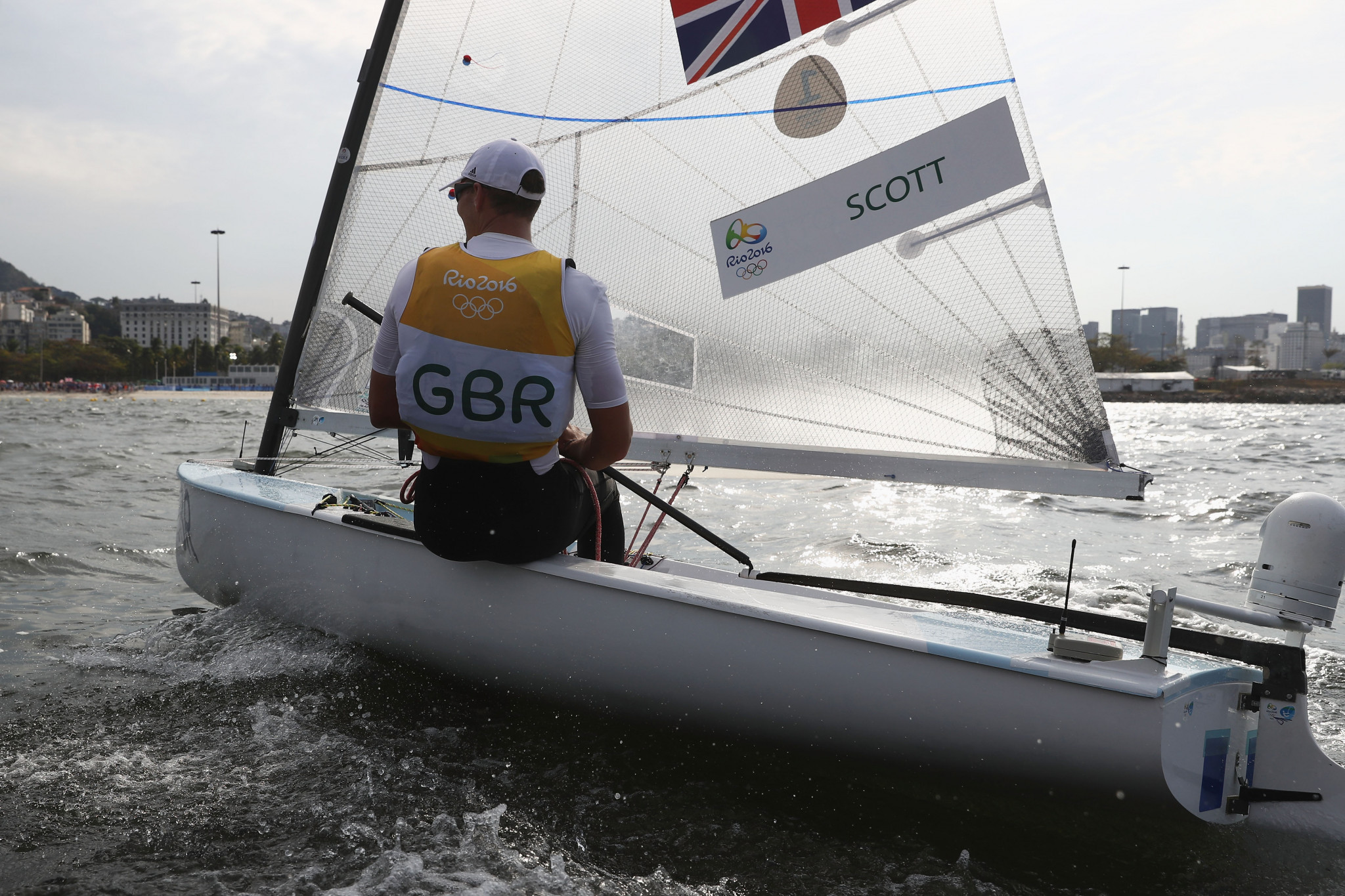 Rio 2016 champion Giles Scott of Britain currently sits in second place in the standings at the Finn European Open in Vilamoura  ©Getty Images