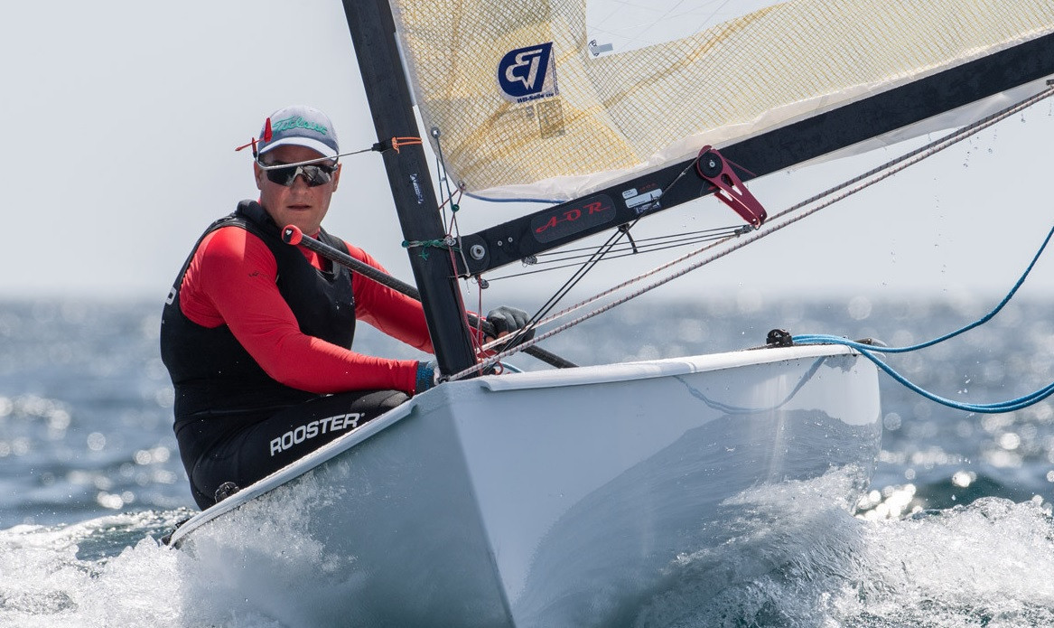 Spain's Joan Cardona finished fourth overall at the Finn European Championship in Vilamoura to easily retain his under-23 title ©Vilamoura Sailing