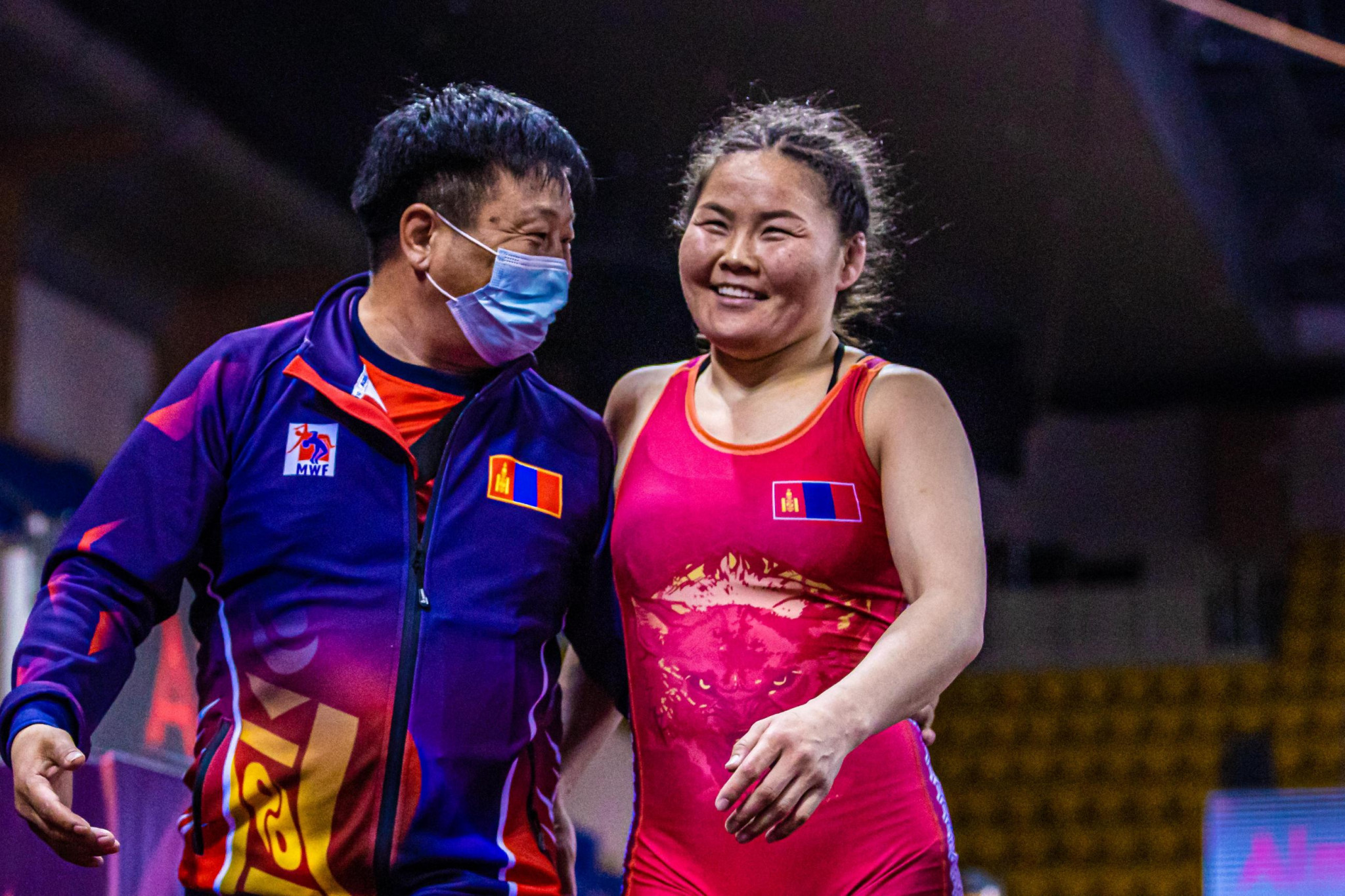 Mongolia's Bolortungalag Zorigt won her first UWW Asian title by defeating India's Rio 2016 bronze medallist in Almaty today ©UWW