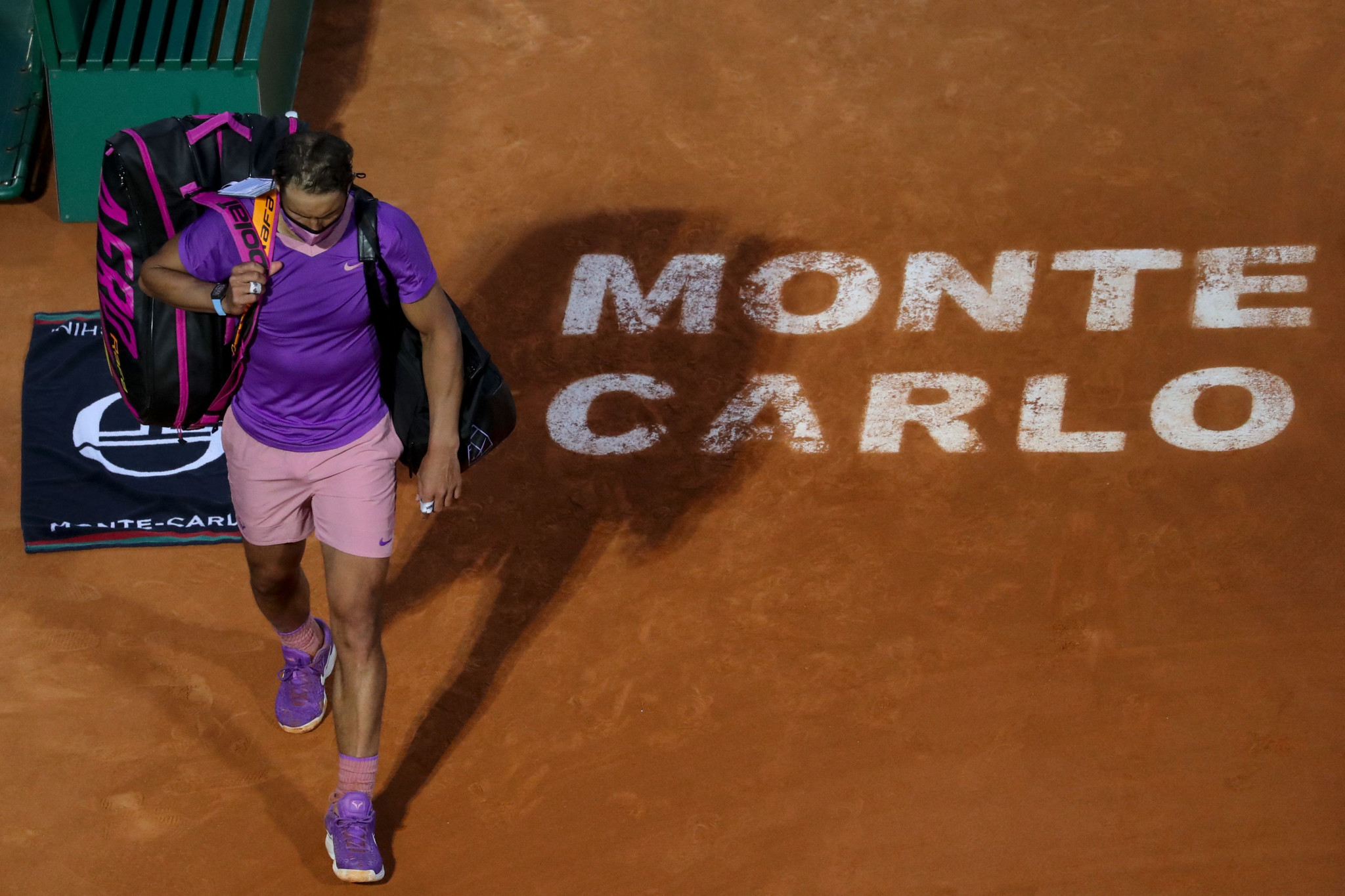 Rafael Nadal, playing in his first tournament since the Australian Open in February, fell at the quarter-finals of the Monte-Carlo Masters ©Getty Images