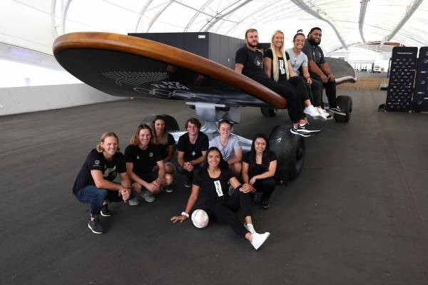 The giant skateboard is set to be a centrepiece at the New Zealand Team HQ fan zone ©NZOC