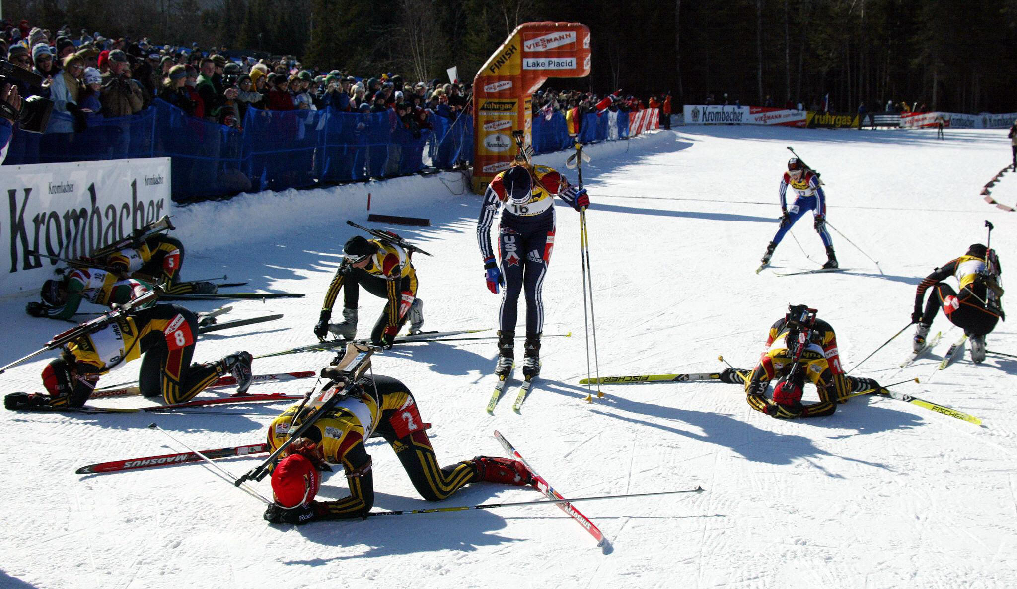 Lake Placid staged a Biathlon World Cup leg during the 2003-2004 season ©Getty Images