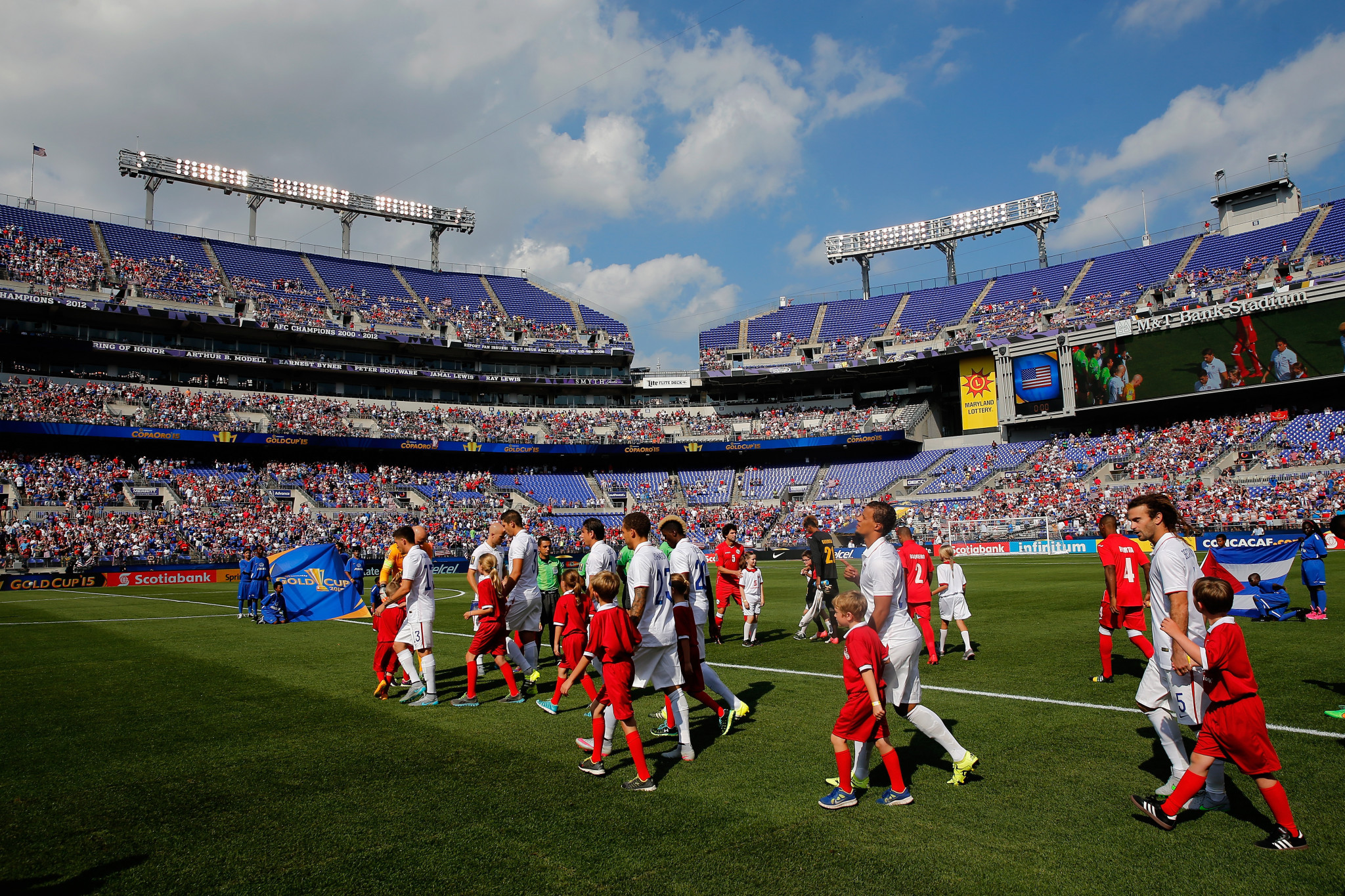 M&T Bank Stadium staged the 2015 CONCACAF Gold Cup quarter-final between the United States and Cuba ©Getty Images