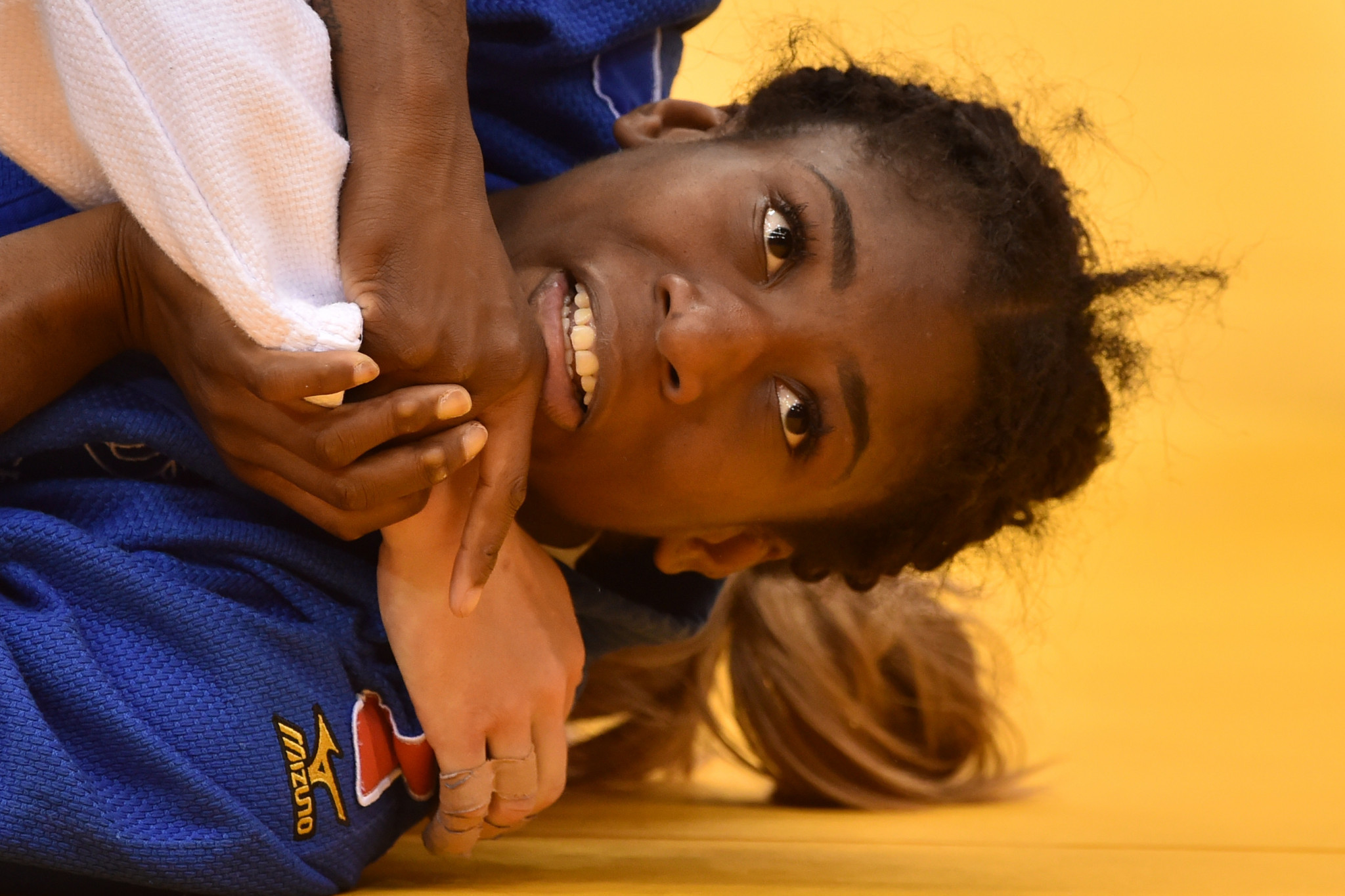 World champion Marie-Eve Gahié was knocked out early in the women's under-70kg ©Getty Images