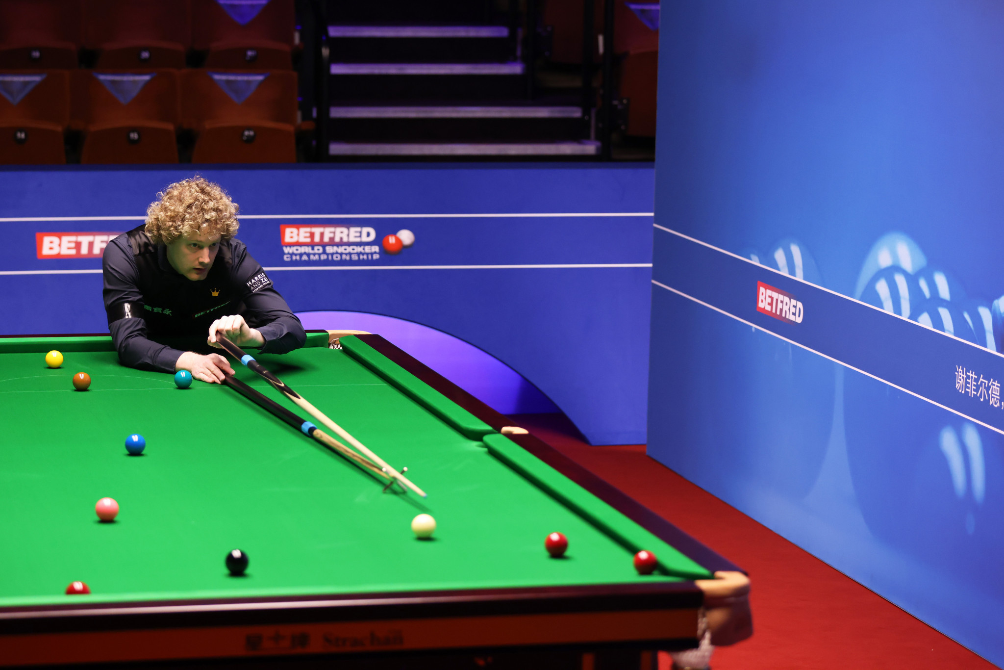 World number three Neil Robertson of Australia opened up a 6-3 lead against China's Liang Wenbo in their first round match at The Crucible Theatre ©Getty Images