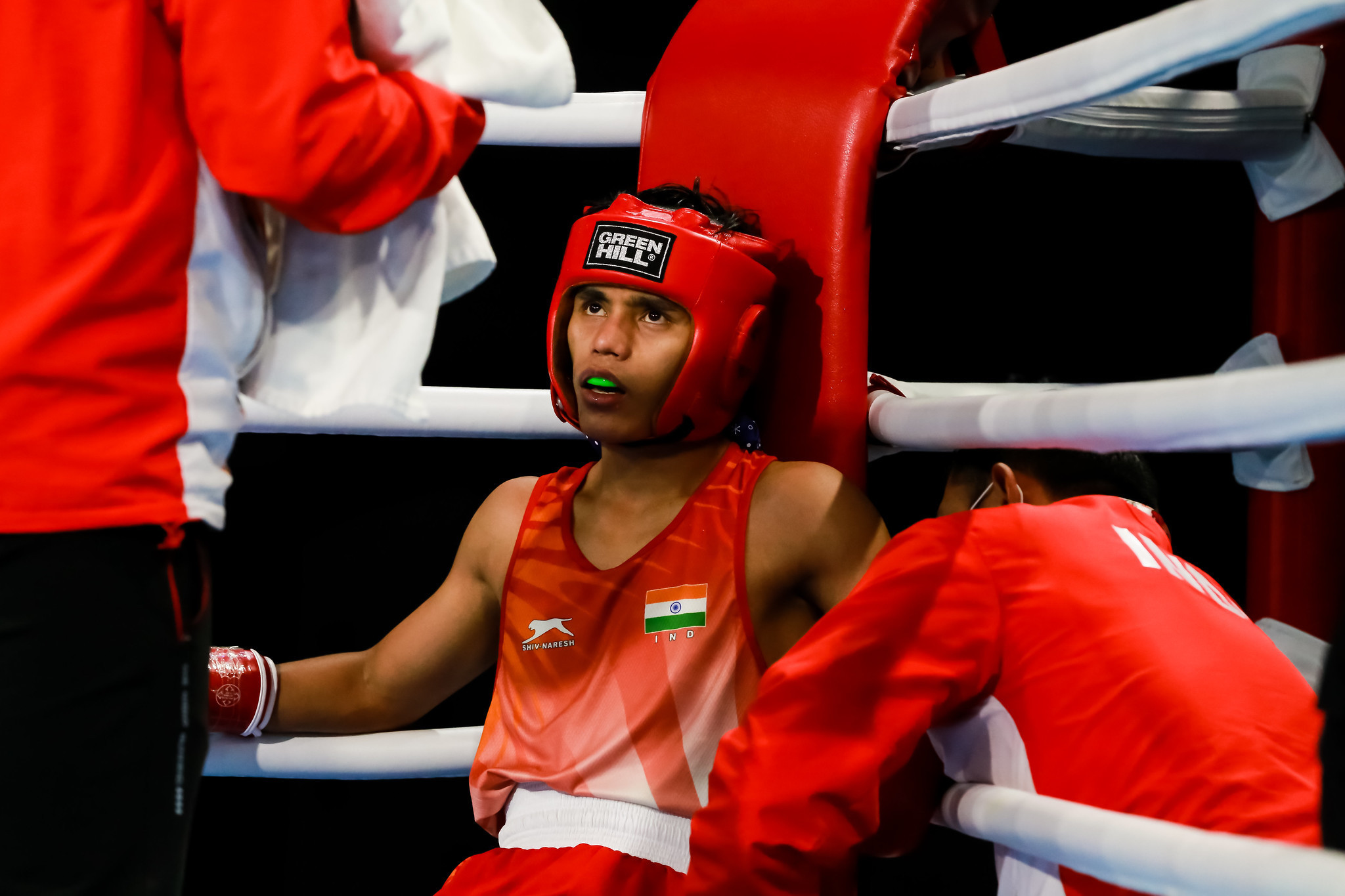 As did Bishwamitra Chongtham in the men's 49kg class ©AIBA
