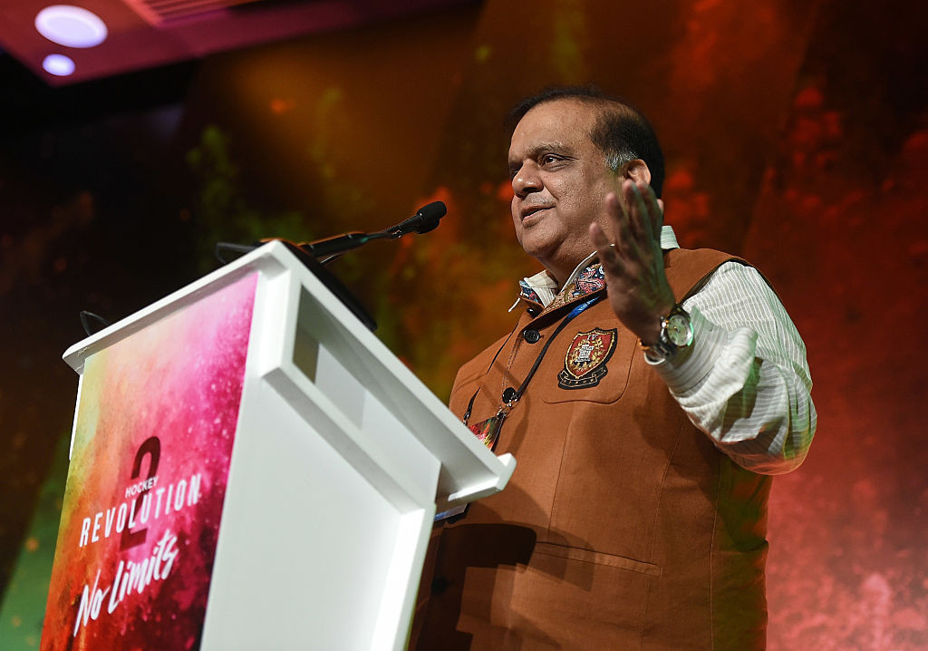 FIH President Narinder Batra will be challenged for his position by Belgium's Marc Coudron in the election ©Getty Images