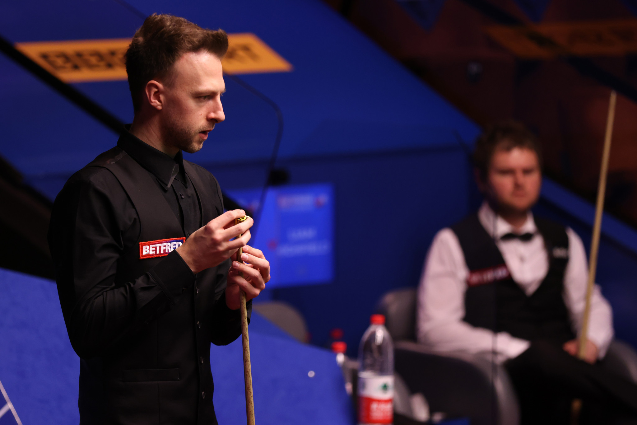 Judd Trump made a string start at the Crucible Theatre in Sheffield ©Getty Images