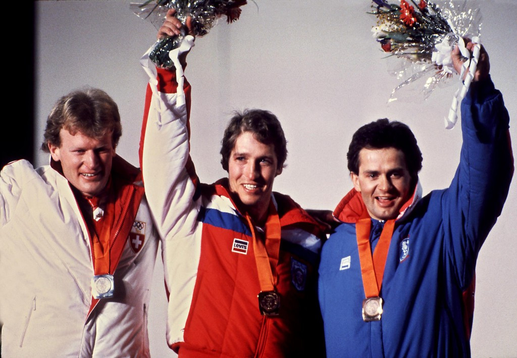 Bill Johnson became America's first-ever Olympic downhill skiing champion at Sarajevo 1984 ©Getty Images