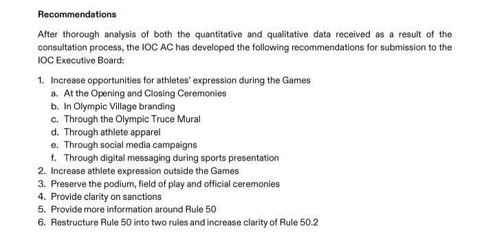 The report from the IOC Athletes' Commission makes six main recommendations to the Executive Board ©ITG