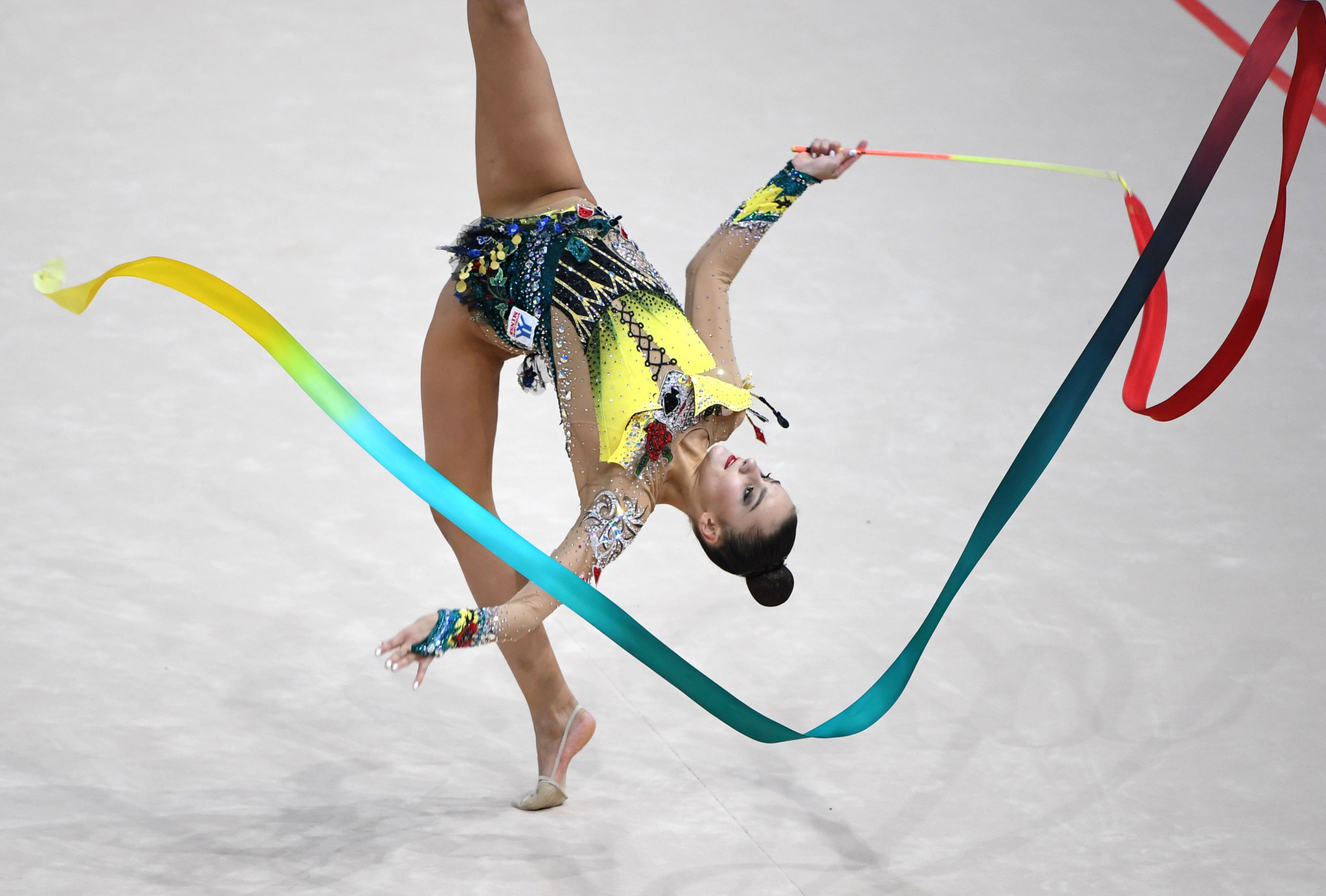 Alina Harnasko broke the Averina twin monopoly by winning the ribbon title ©Getty Images