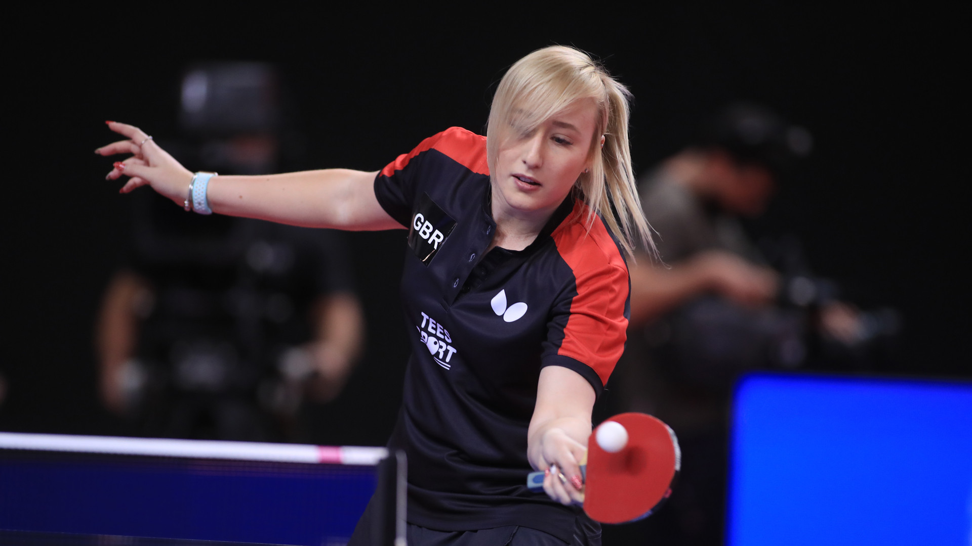 Britain's Charlotte Carey earned a surprise win on the opening day of the ITTF's European Olympic Singles Qualification Tournament in Portugal ©ITTF
