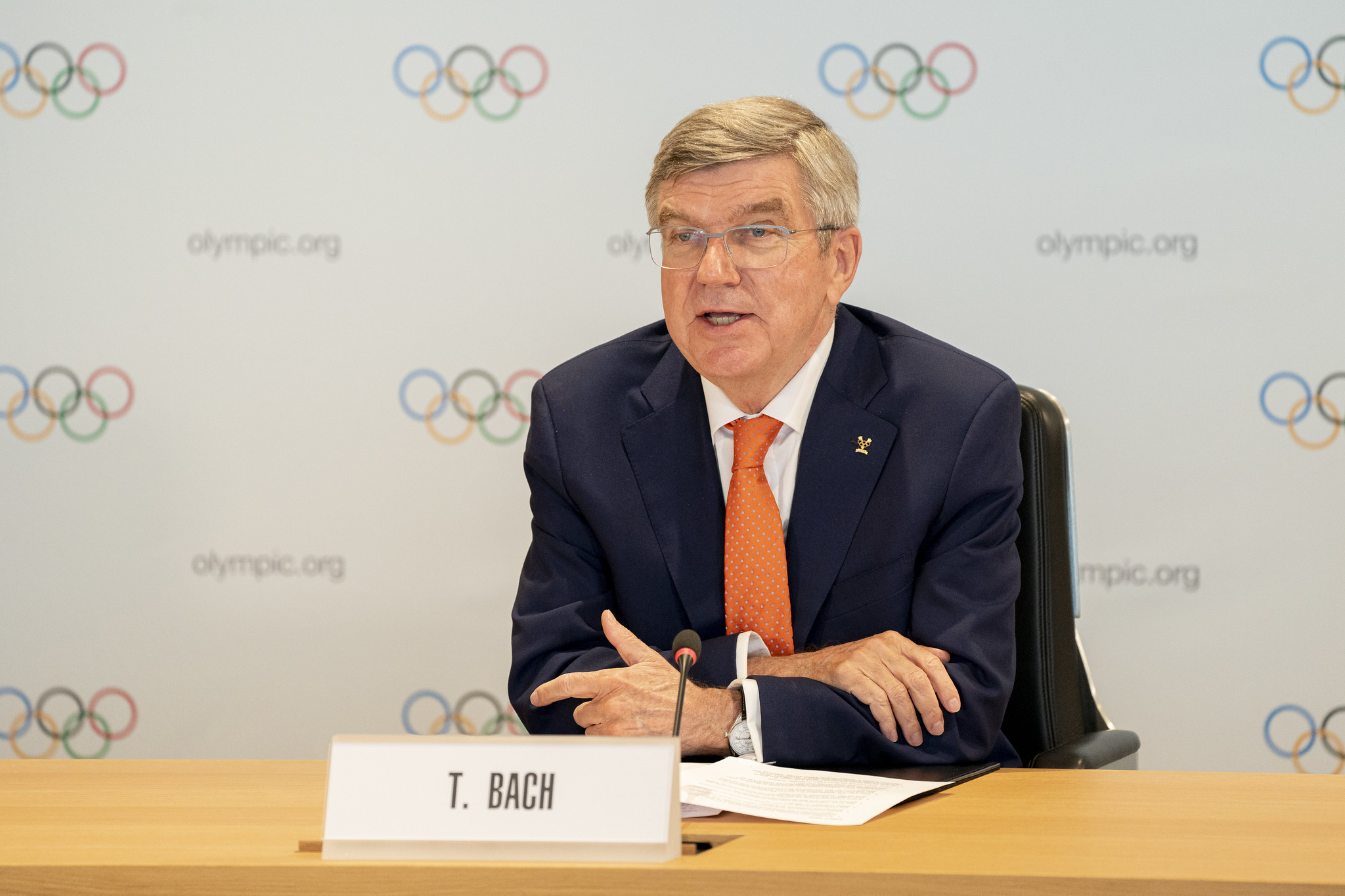 IOC President Thomas Bach suggested the motto be changed to include the word
