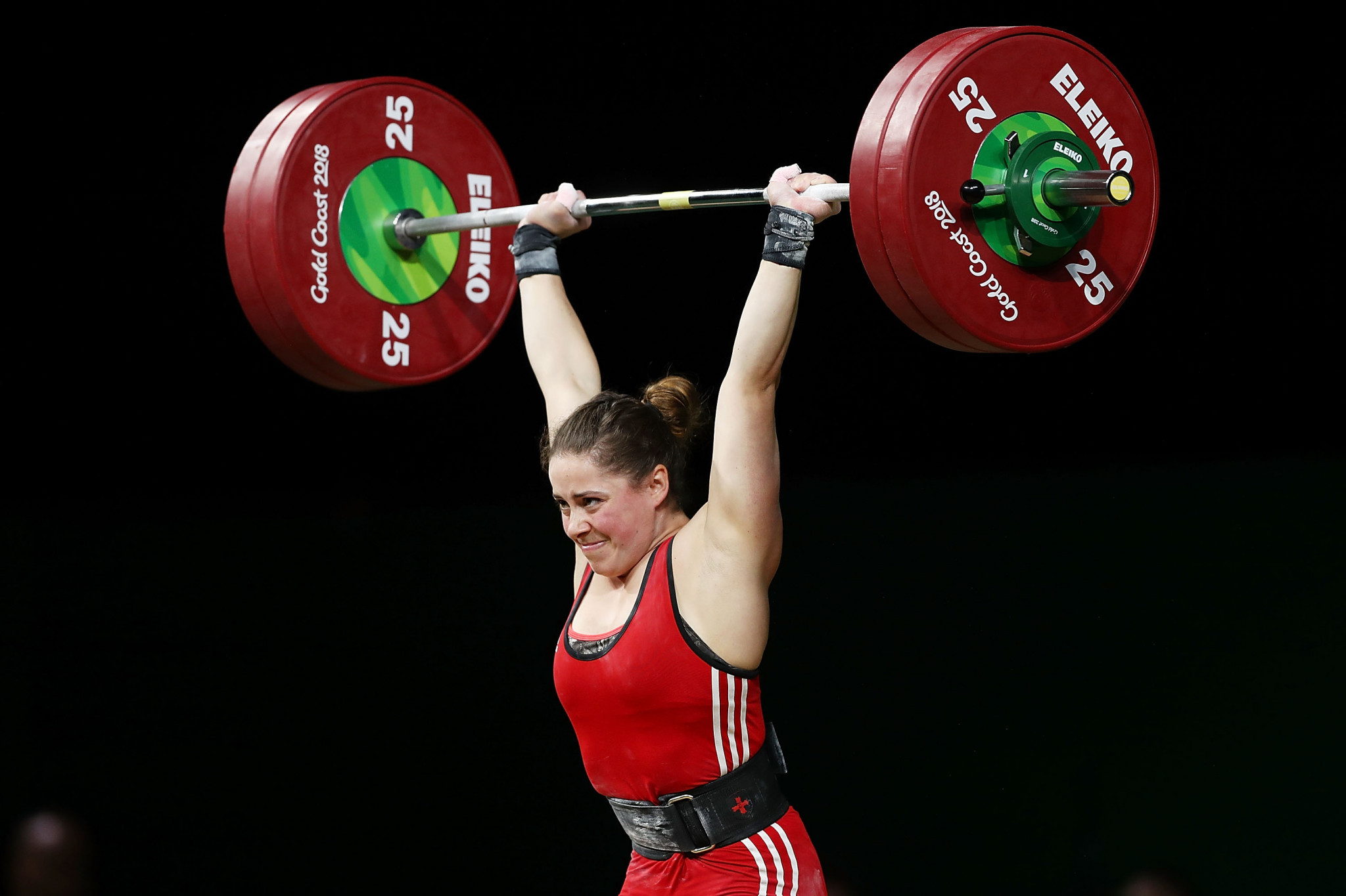 Maude Charron of Canada broke three Pan American Championships records on her way to winning the women's 64kg category in the Dominican Republic ©Getty Images
