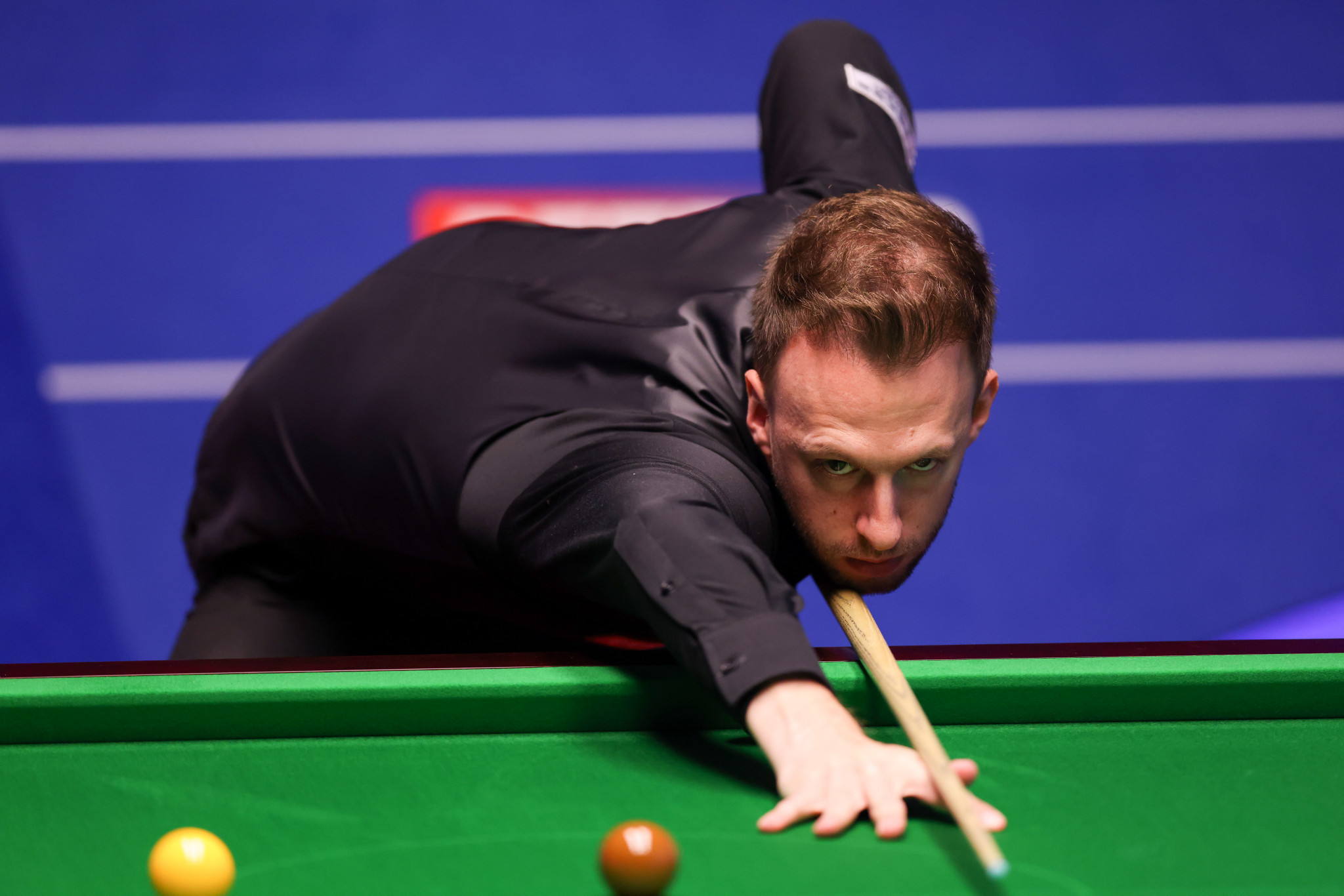 World number one Judd Trump reached round two of the World Snooker Championship after a comfortable win over Liam Highfield ©Getty Images