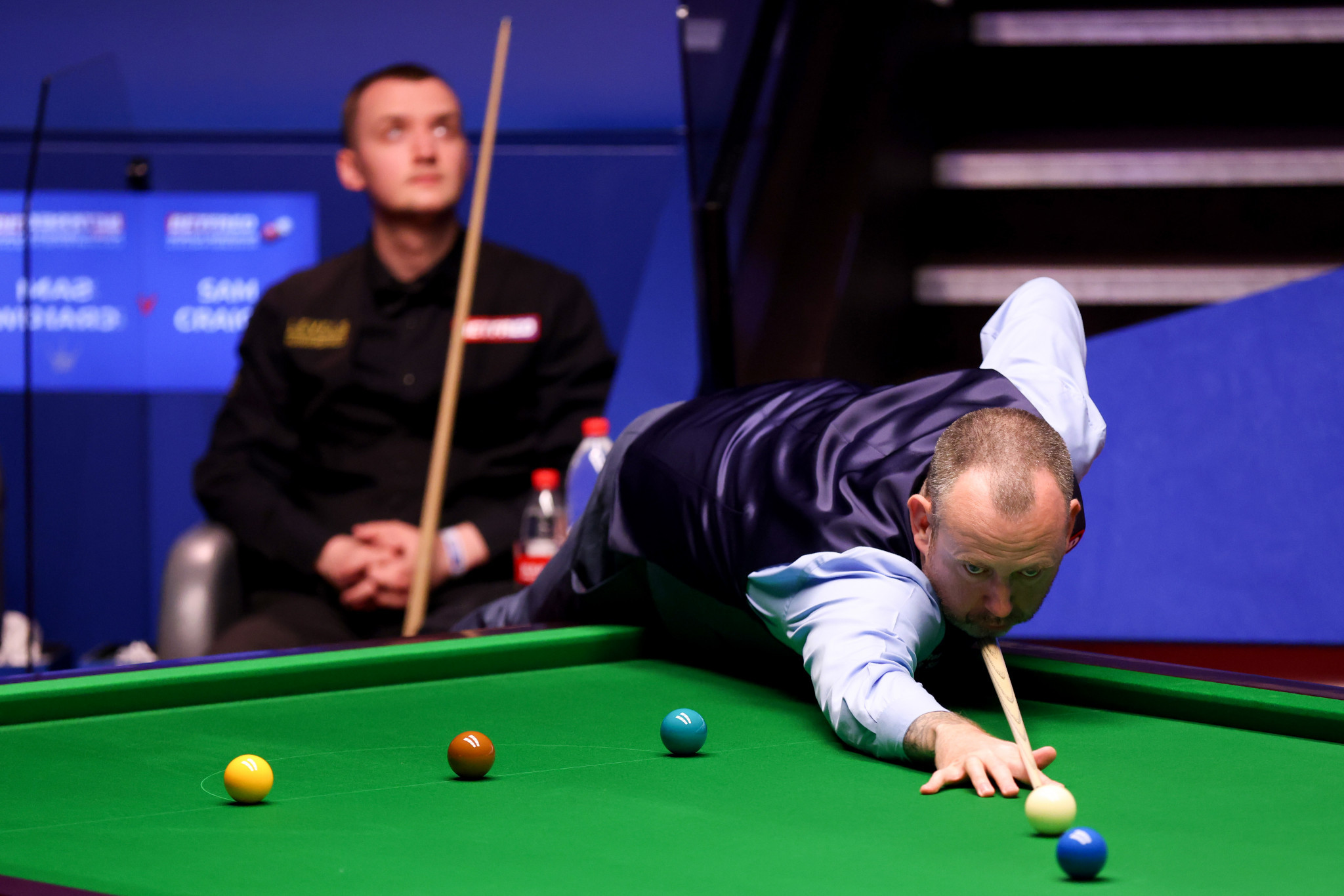 Mark Williams of Wales will face John Higgins in a rematch of the 2018 final, after he beat Crucible debutant Sam Craigie ©Getty Images