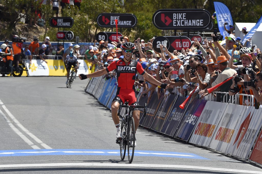 Porte climbs to first win for new team on stage five of Tour Down Under